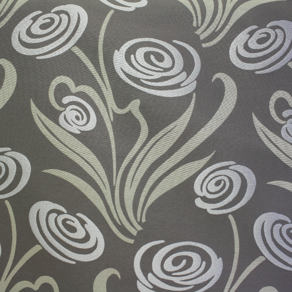 Deco jacquard, flowers, grey, 12706-4811