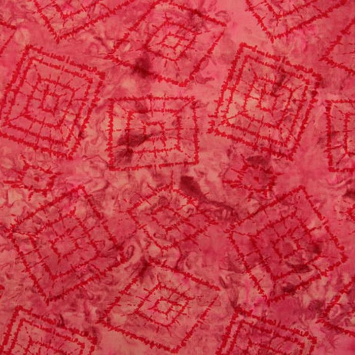 Bombaž, poplin, batik, karo, 13112-015
