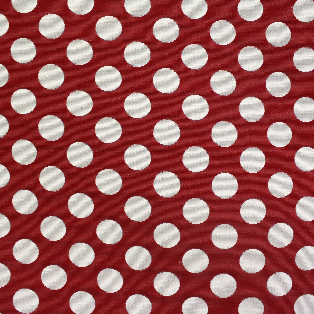 Deco jacquard, big dots, burgundy 13181-112