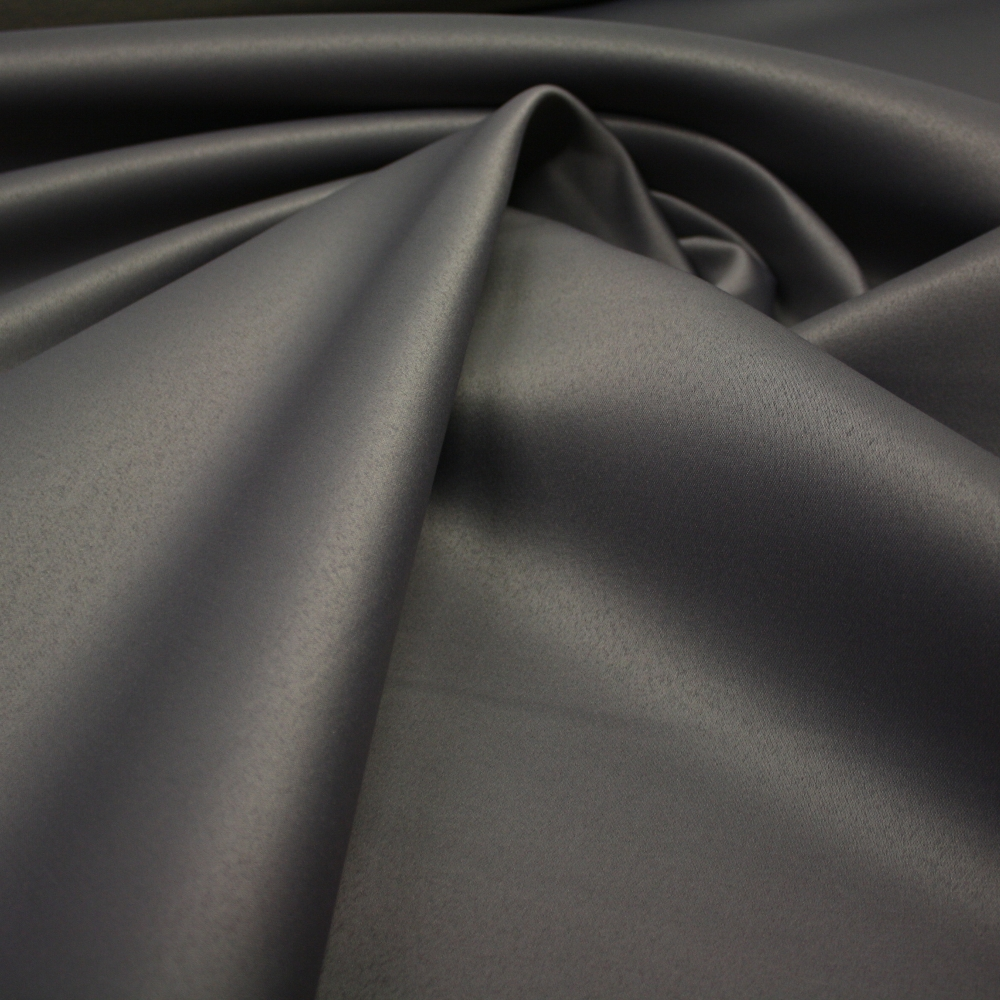 Decorative satin, 13205-06, grey / bronze