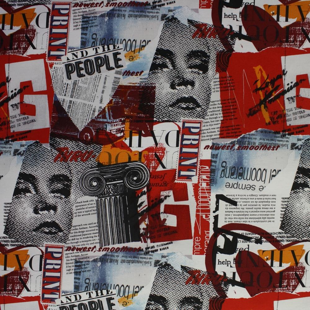 Dekostoff, Druck, Zeitschrift, Collage, 13321-01