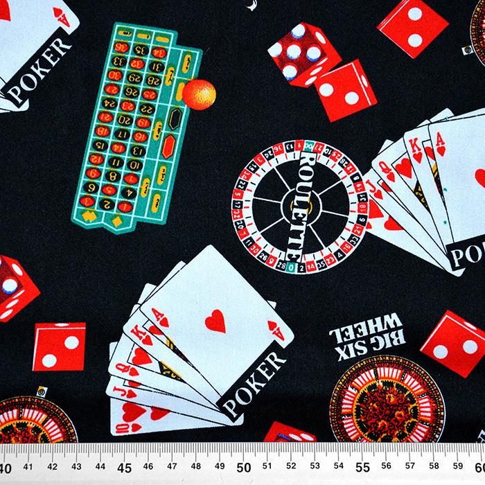 Saten, poliester, kazino, 13929-01