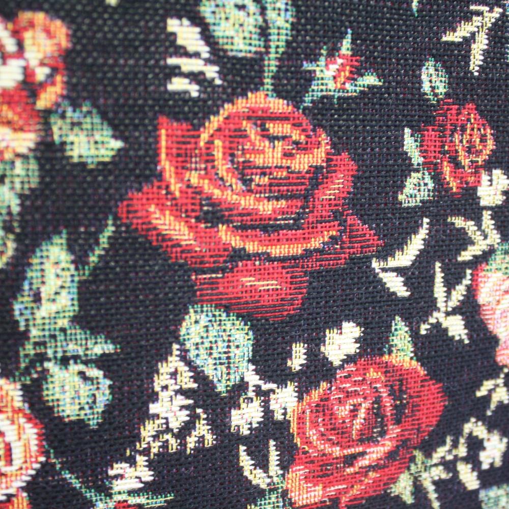 Dekorativa težja vzorec - rože č manjše 13962-4