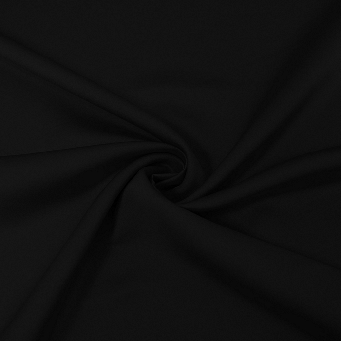 Saten, mikropoliester, 14171-001, črna