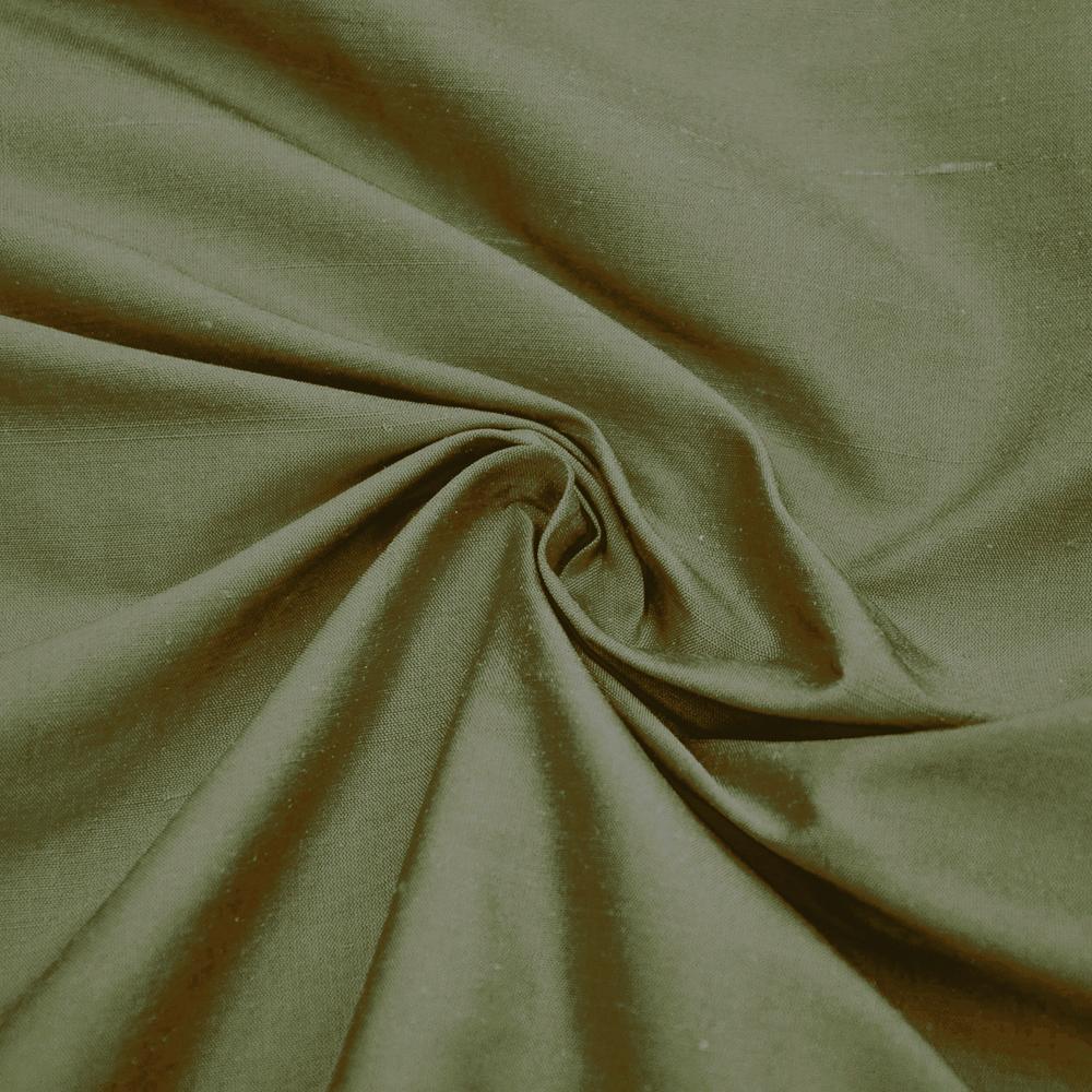 Svila, šantung, 3956-19, rjavo zelena