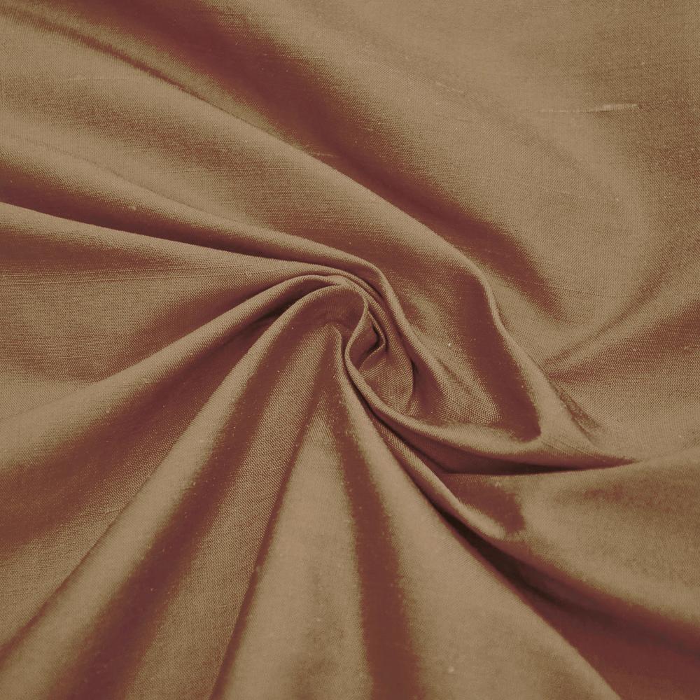 Svila, šantung, 3956-49, svetlo rjava