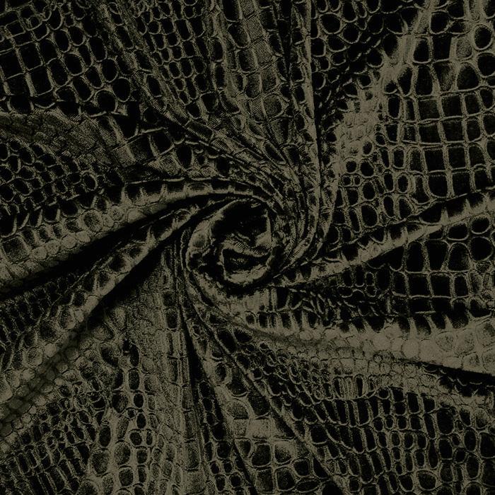 Pliš elastičen, kača, 14769-127, zelena