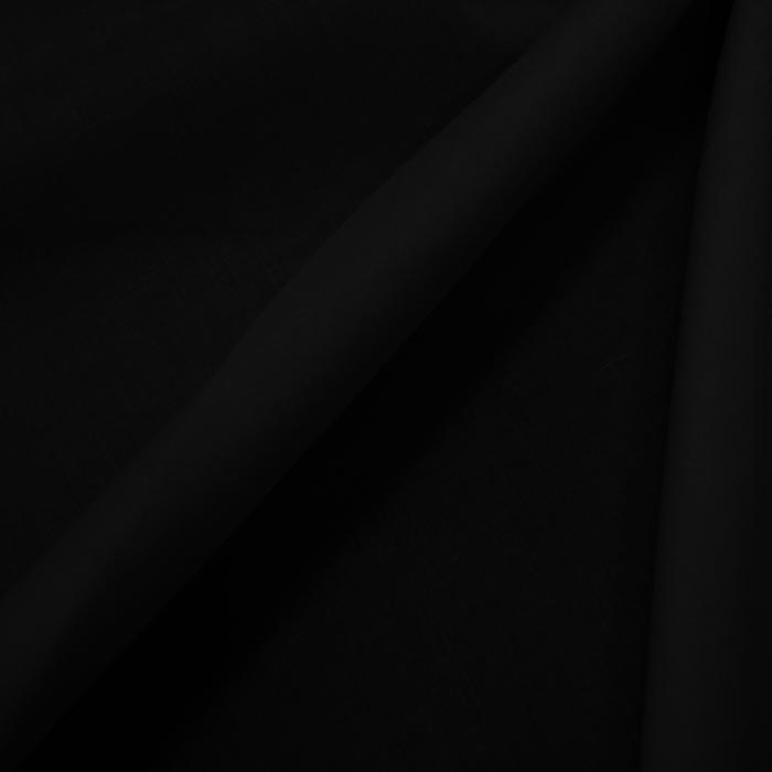 Bombaž, poplin, elastan, 13596-02, črna