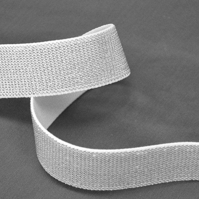 Elastika, okrasna, 25mm, 00468-001, srebrna
