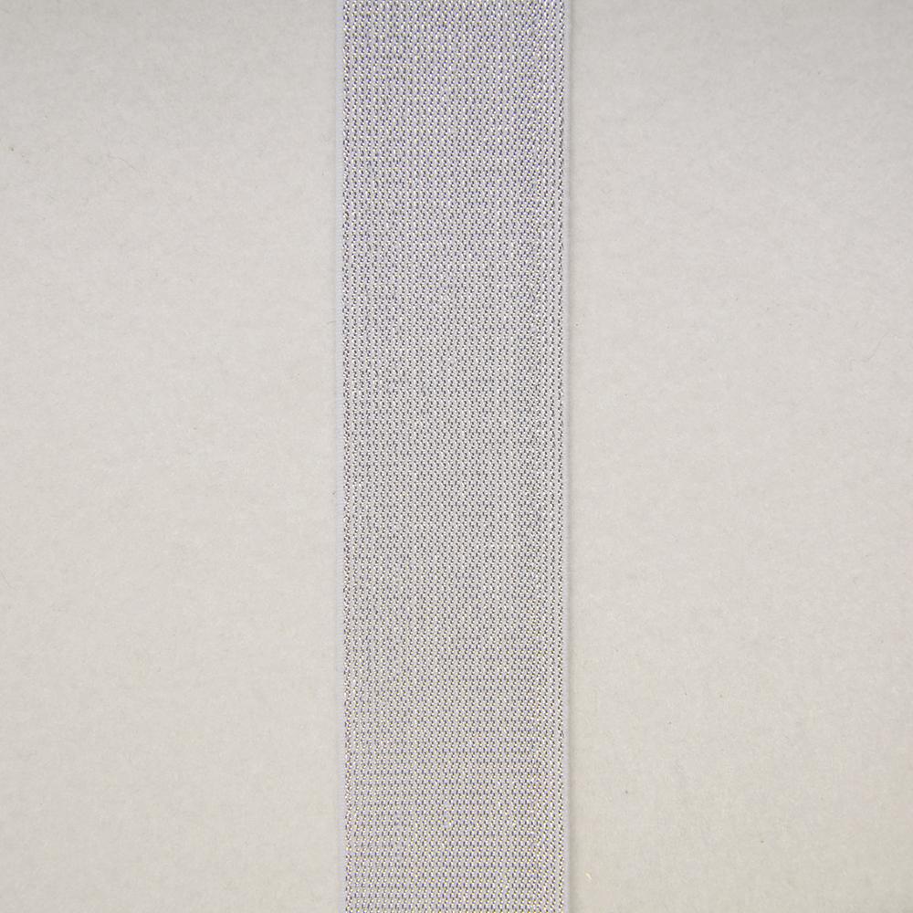 Elastika, okrasna, 40mm, srebrna, 0049-001