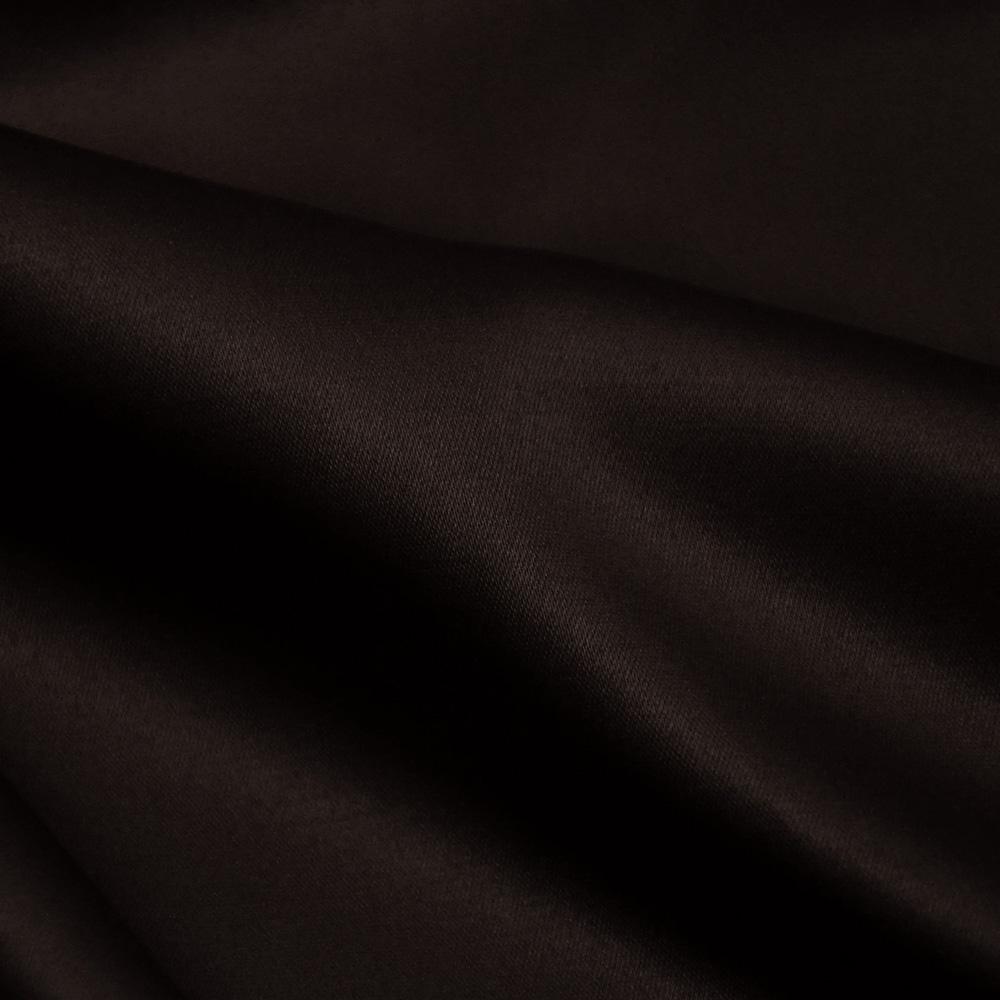 Saten, bombaž, poliester, 20_10590, temno rjava
