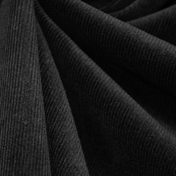 Žamet, bombažni, 14037-4, črna