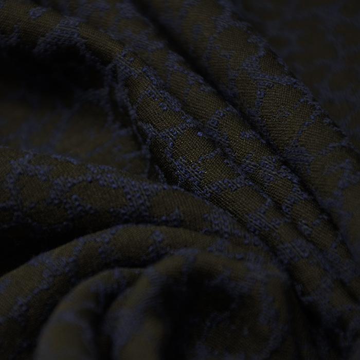 Žakard, 14891, temno modra