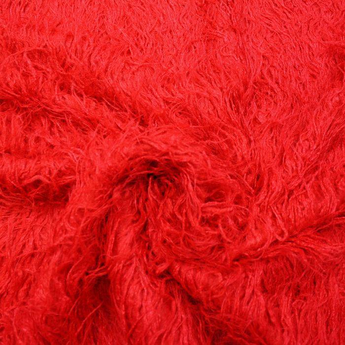 Umetno krzno, dolgodlako, 3313-1, rdeča