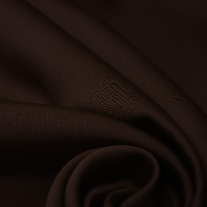 Saten, mikropoliester,14171-006, rjava