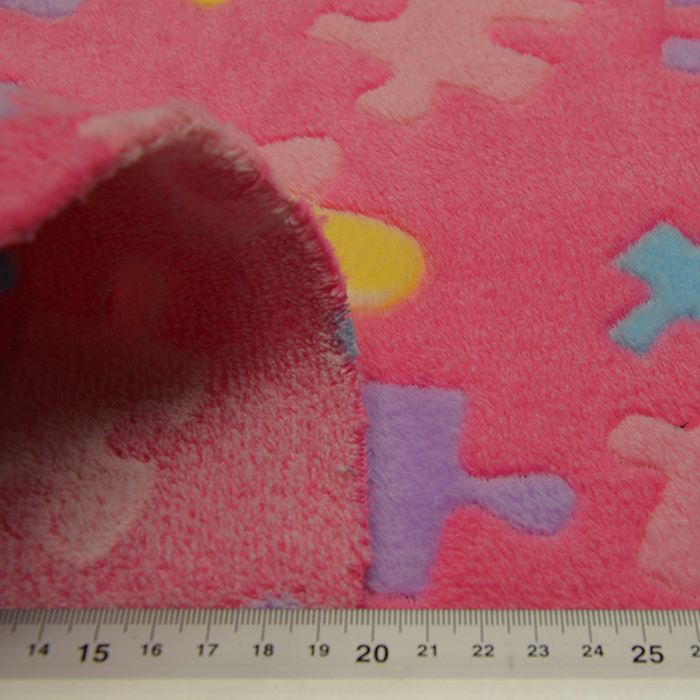 Velur coral, obestranski, otroški, 15238-0804