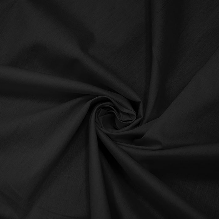 Bombaž, poplin, 5334-069, črna