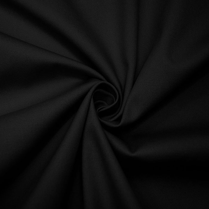 Bombaž, keper, elastan, 15269-069, črna