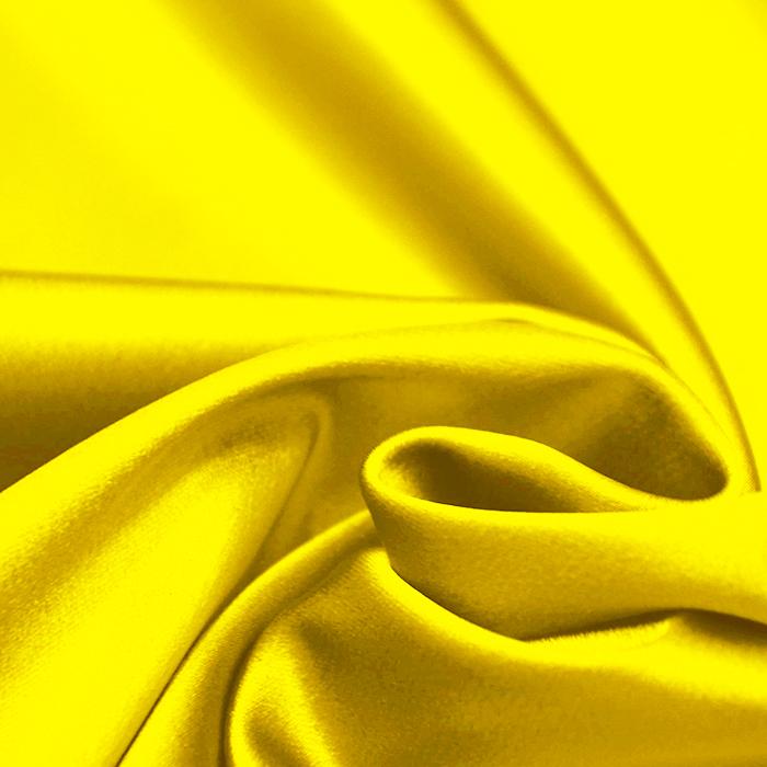 Saten tkanina z elastanom, 15405-24, rumena