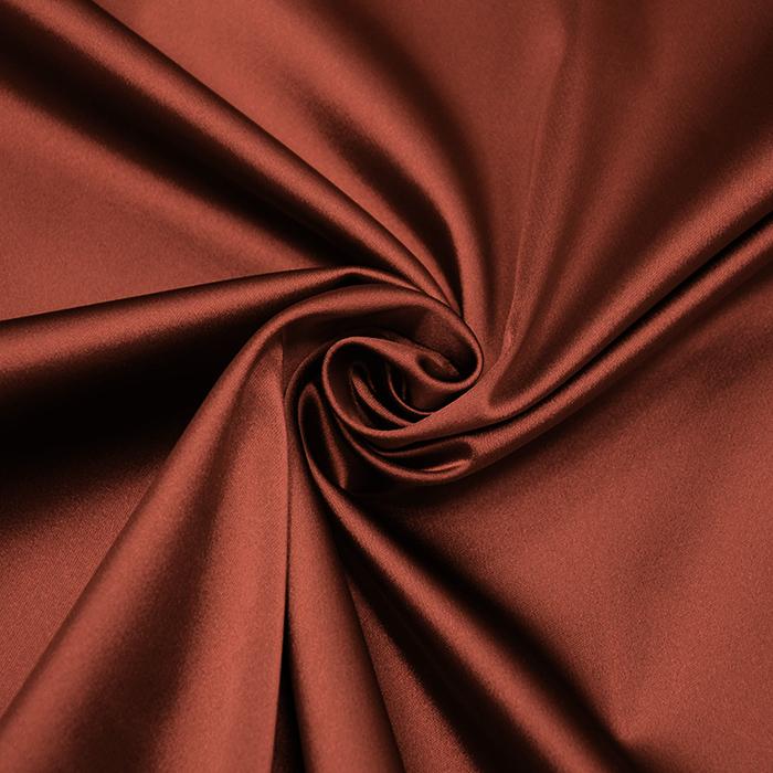 Saten tkanina z elastanom, 15405-25, rjava