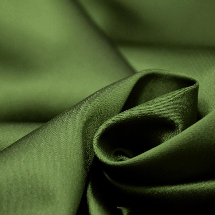 Saten tkanina z elastanom, 15405-32, zelena