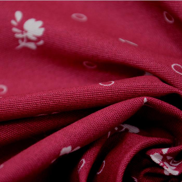 Deko, tisk, rože, 15413-64, bordo