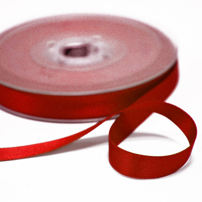 Trak, saten, 10mm, 15458-1229, rdeča