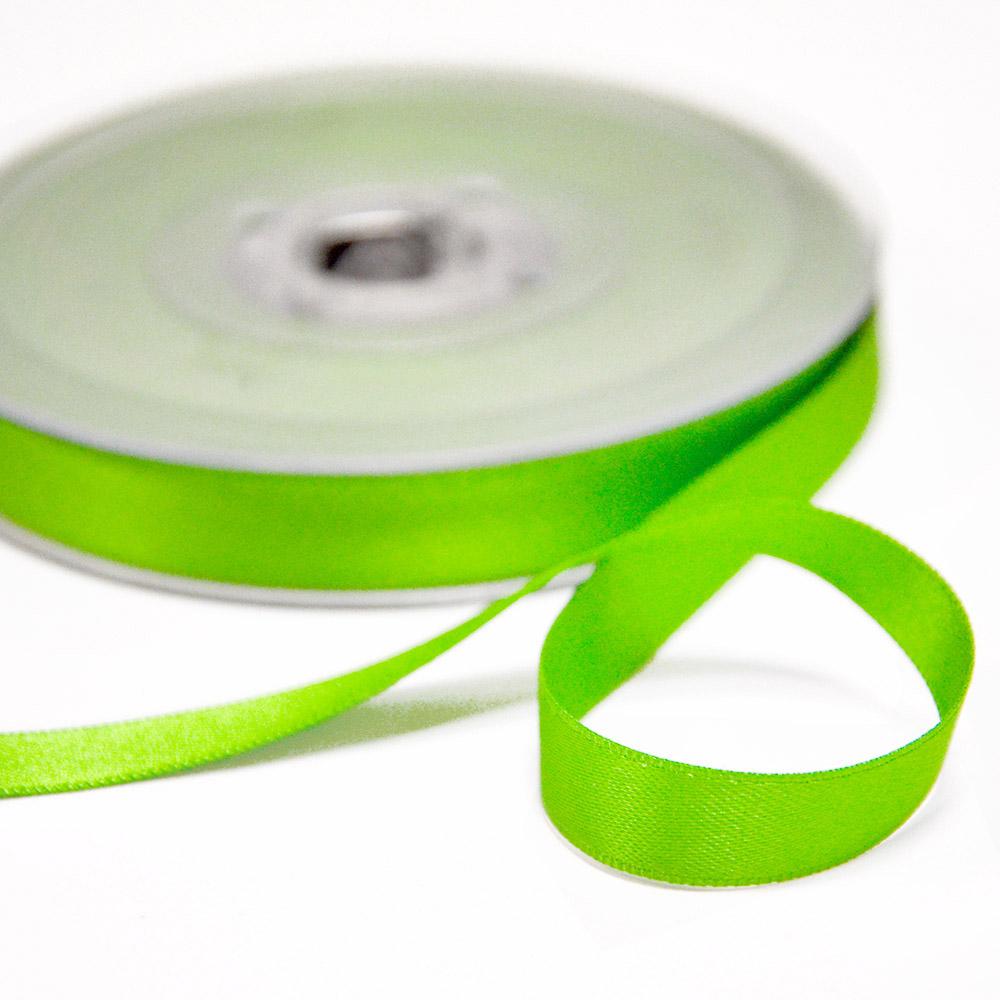 Trak, saten, 10mm, 15458-2002, fluo zelena