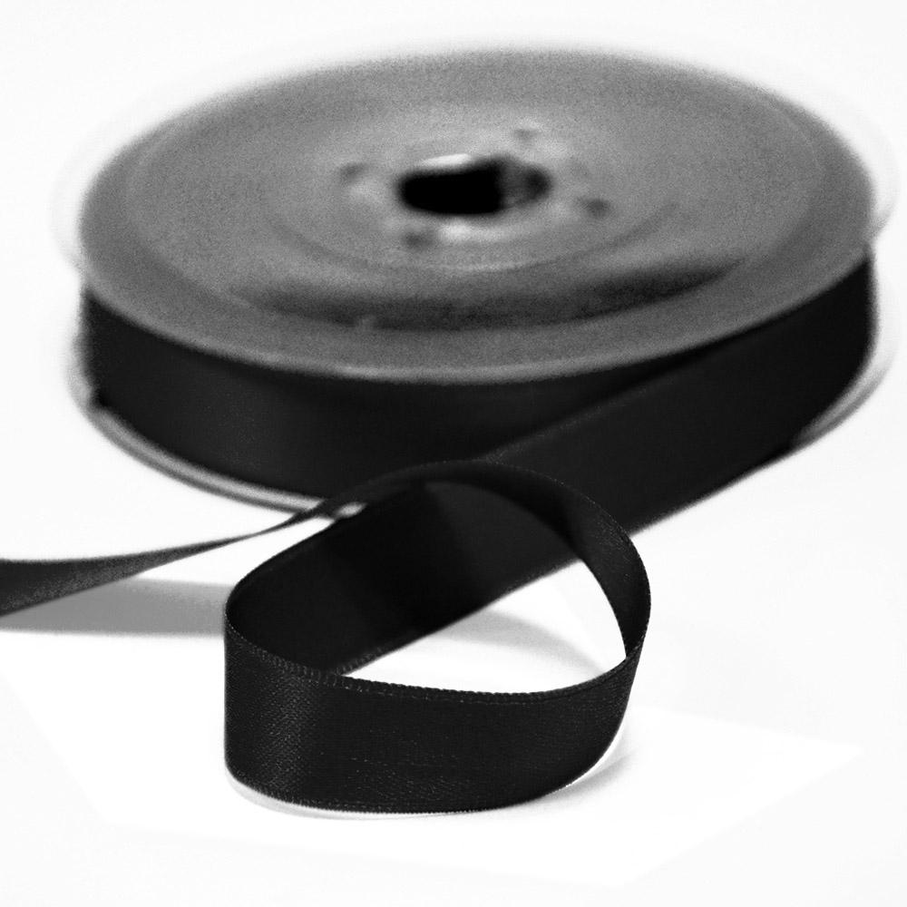Trak, saten, 15mm, 15459-2, črna