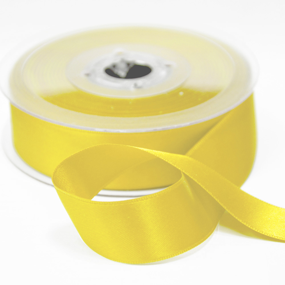Traka, saten, 25mm, 15460-1009, žuta