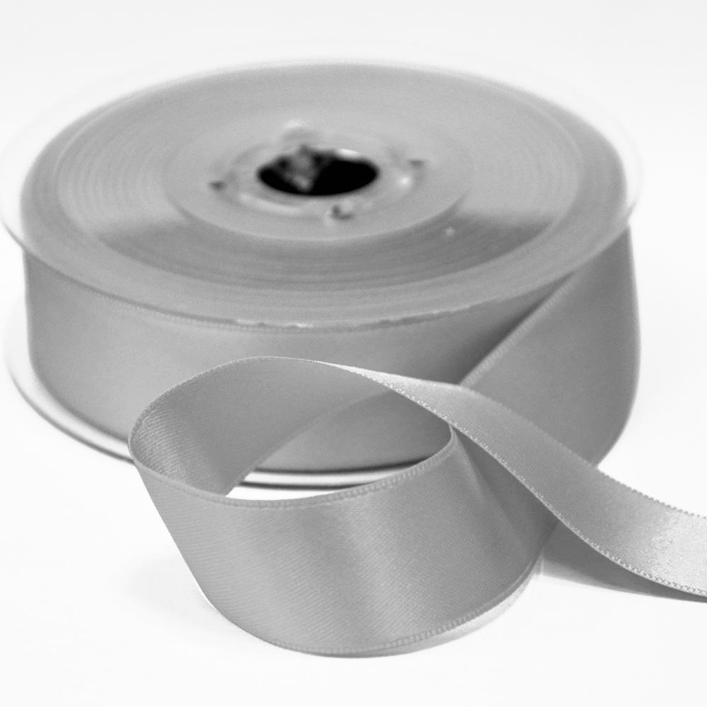 Traka, saten, 25mm, 15460-1120, srebrna