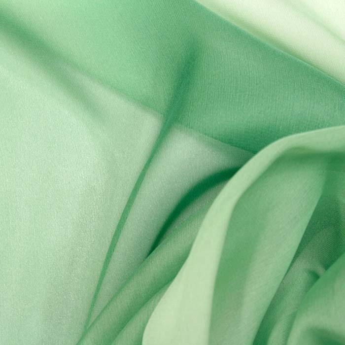 Šifon, poliester, večbarven, 10773, zelena