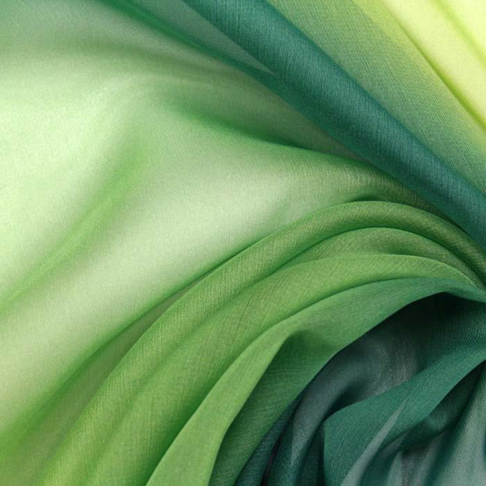 Šifon, poliester, višebojan, 10791, zelena žuta