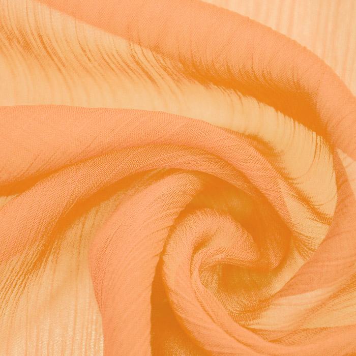 Šifon, plise, 15533-033, oranžna