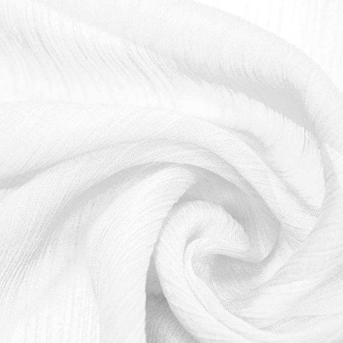Šifon, plise, 15533-050, bela