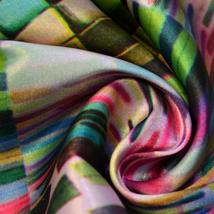 Tkanina, saten, geometrijski, 15585-005