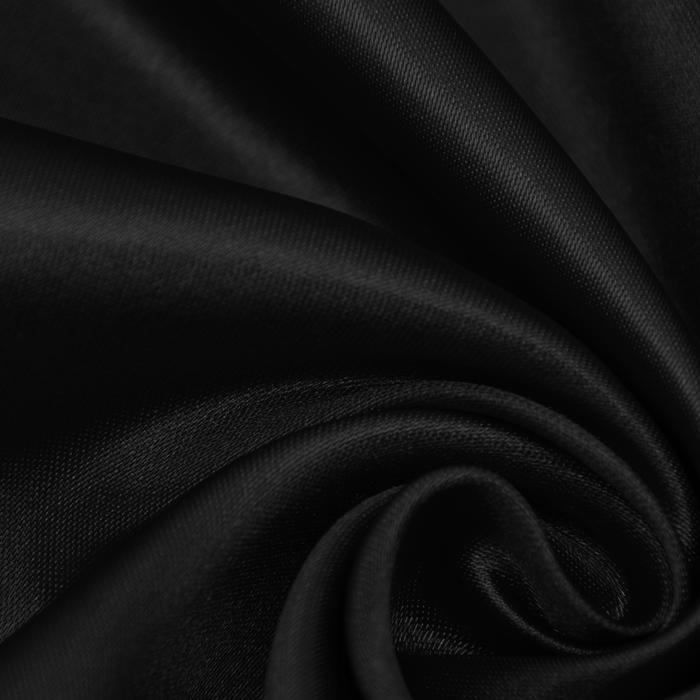 Saten, poliester, 15635-53, črna