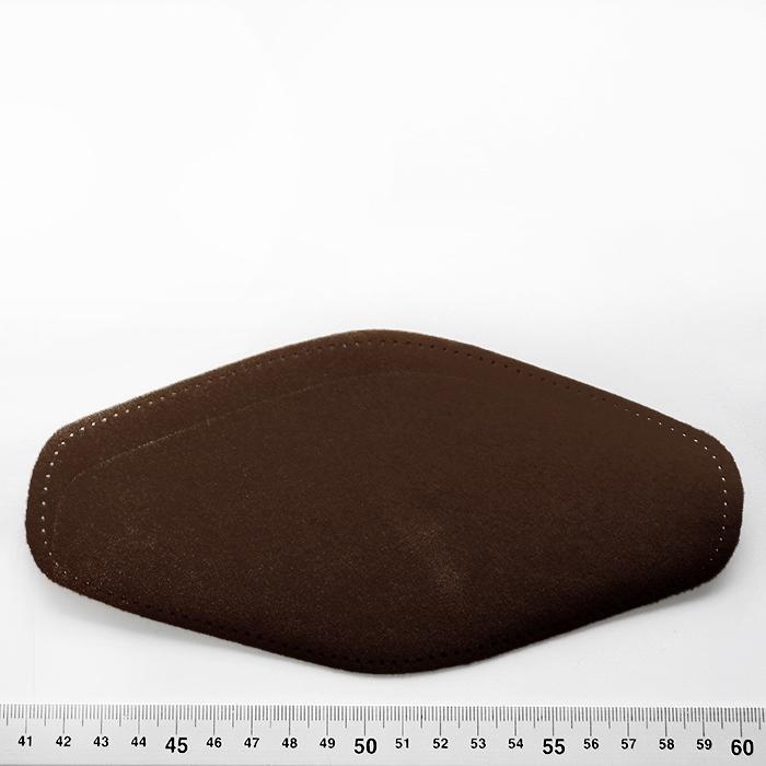Nakomolčniki, semiš, 2 kom, 00391-40, temno rjava