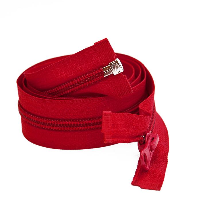 Zadrga, deljiva 80 cm, 6 mm, 2053-364, rdeča