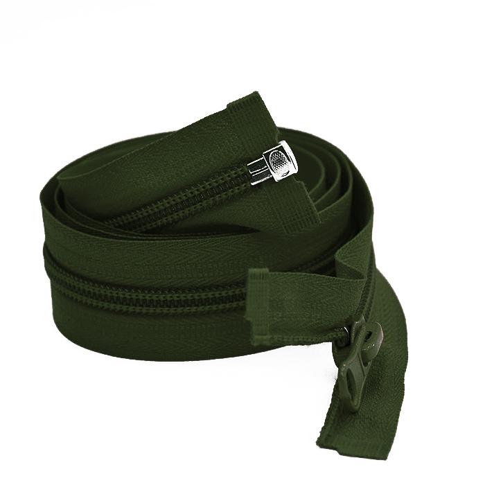 Zadrga, deljiva 80 cm, 6 mm, 2053-680A, zelena