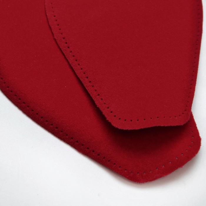 Nakomolčniki, semiš, 2 kom, 00391-266, rdeča
