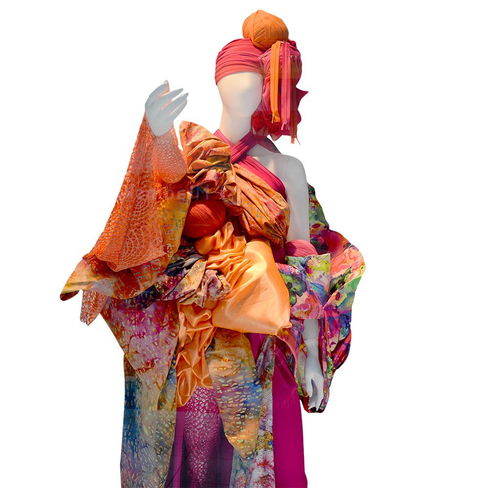 Bombaž, poplin, batik, cvetlični, 15650-69