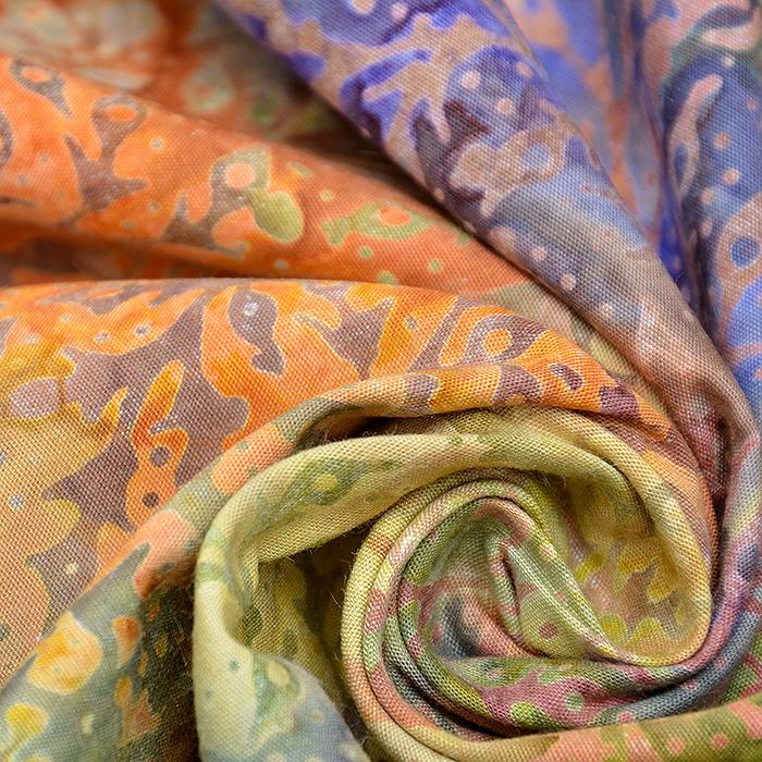 Bombaž, poplin, batik, cvetlični, 15651-21