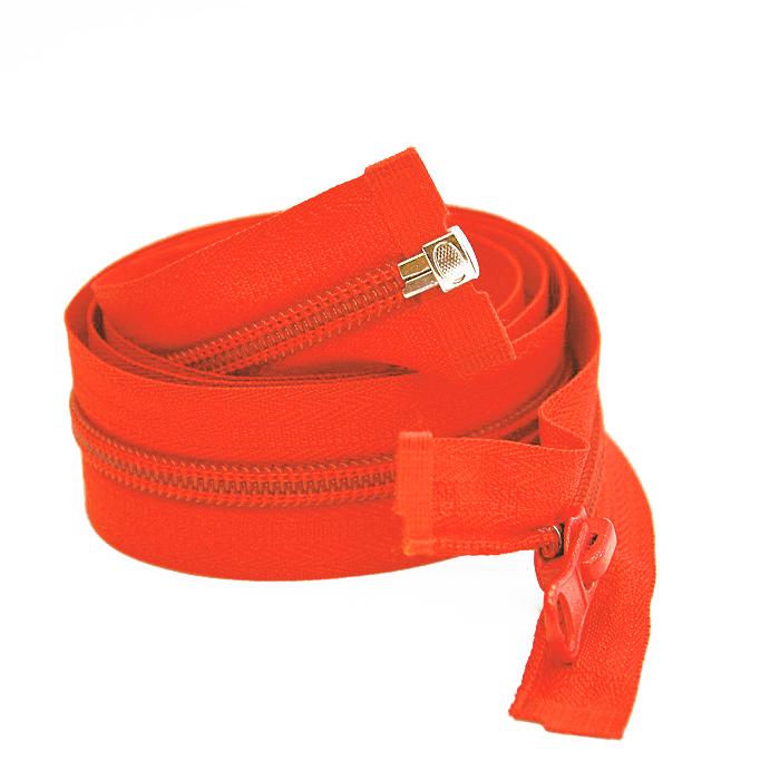 Zadrga, deljiva 70 cm, 6 mm, 2052-345, oranžna