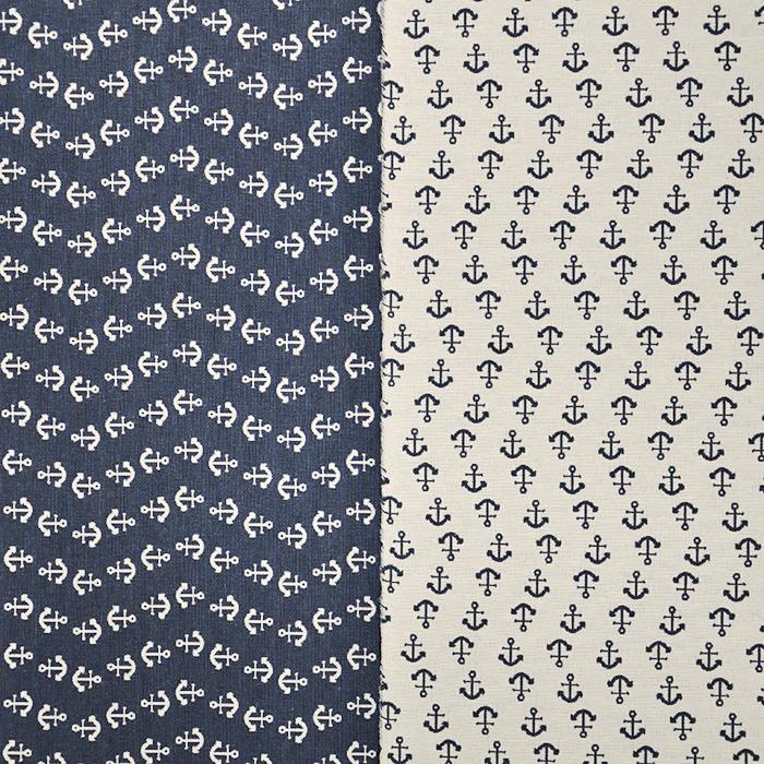 Deko žakard, morski, sidro, 15719-48
