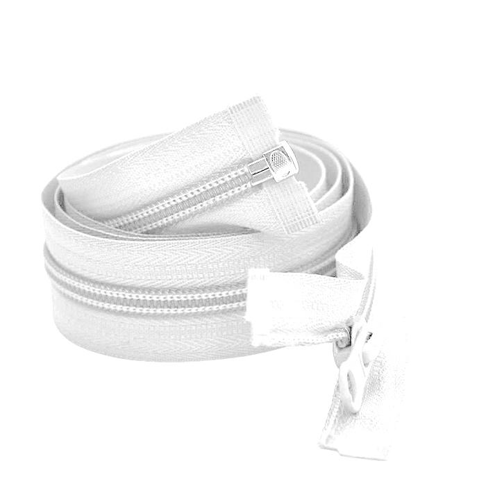 Zadrga, deljiva 100 cm, 6 mm, 2049-001, bela