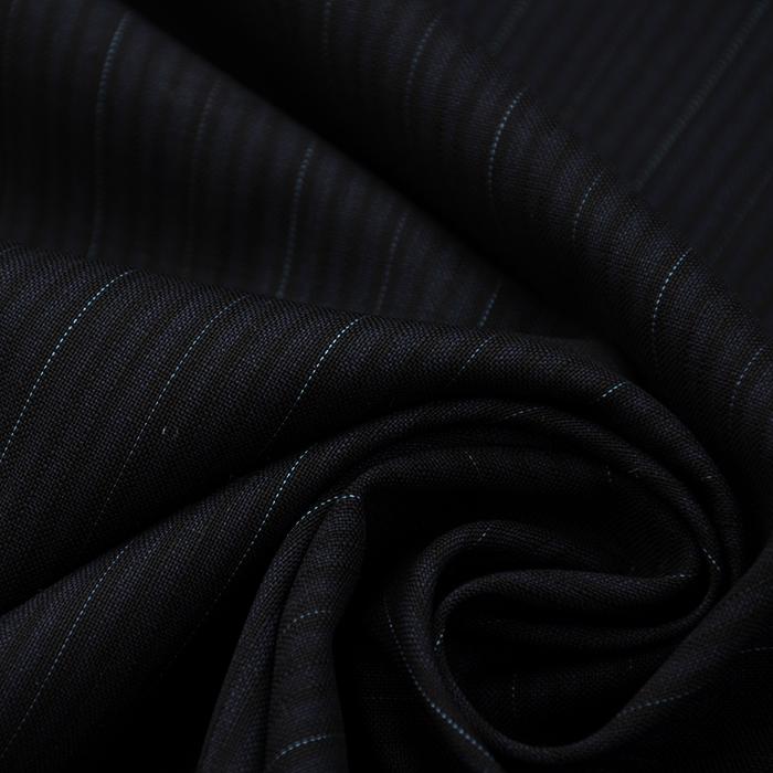 Vuna, za kostime, prugice, 15833-21, crno plava