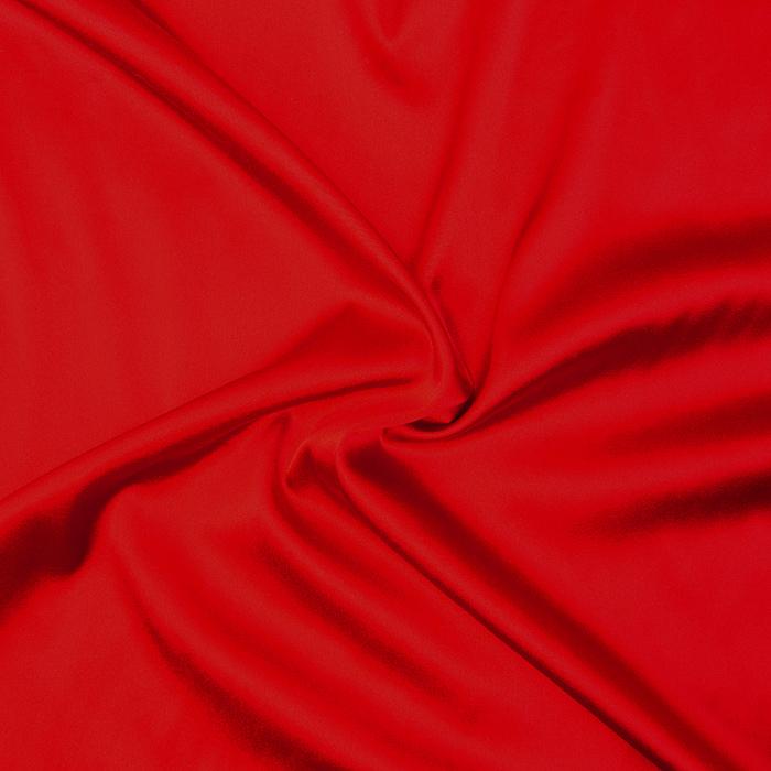 Svila, saten, elastan, 12216, rdeča