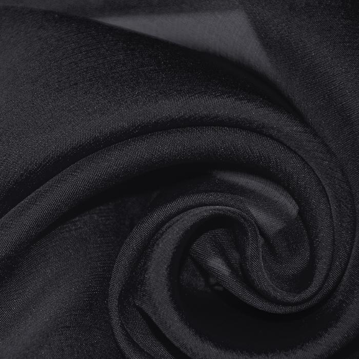 Svila, šifon, 12229, črna