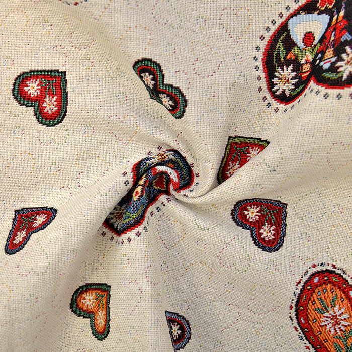 Deko žakard, srčki, 15789